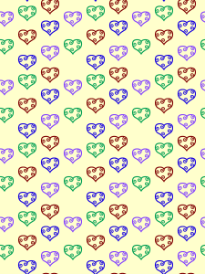 A first attempt at a repeating pattern.  Suitable for wallpaper and other tiling applications.