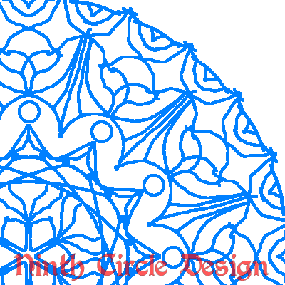 square image, white background, blue lines make a geometric design with radial symmetry centered in lower left