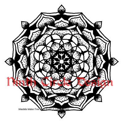 [Image description: white background, black outline and dots and fills mandala with 8-fold symmetry]