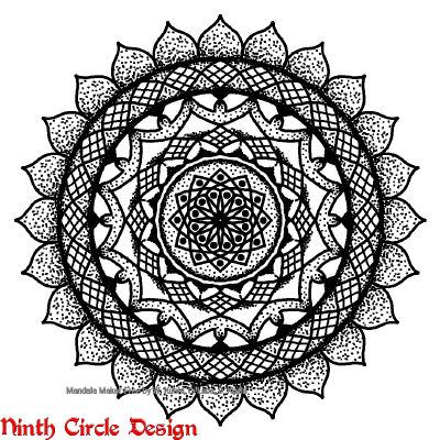 [Image description: white background, black outline and dots and fills mandala with 12-24-fold symmetry]