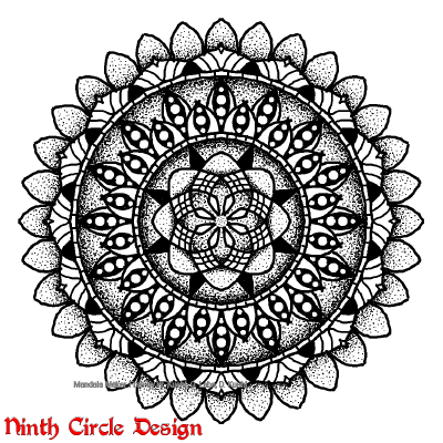 [Image description: on a white background, a black outlined/filled mandala with 8-fold and 16-fold symmetry.]