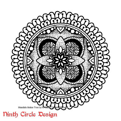 [Image description: white background, a black outline and dotted mandala with mostly 4-fold symmetry, and an outer ring with 24-fold symmetry.]