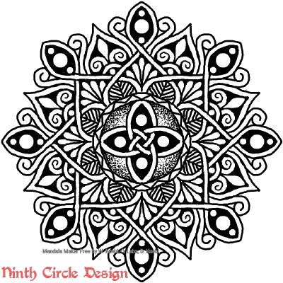 [Image description: white background, a mandala in black outlines and fills with 8-fold symmetry.]